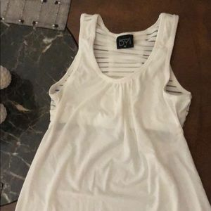 DYI white workout top with built in bra